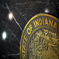 Close Up of the Indiana State Seal