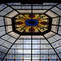 Stained Glass Dome in the Statehouse Rotunda