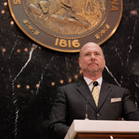 Speaker Bosma with Seal
