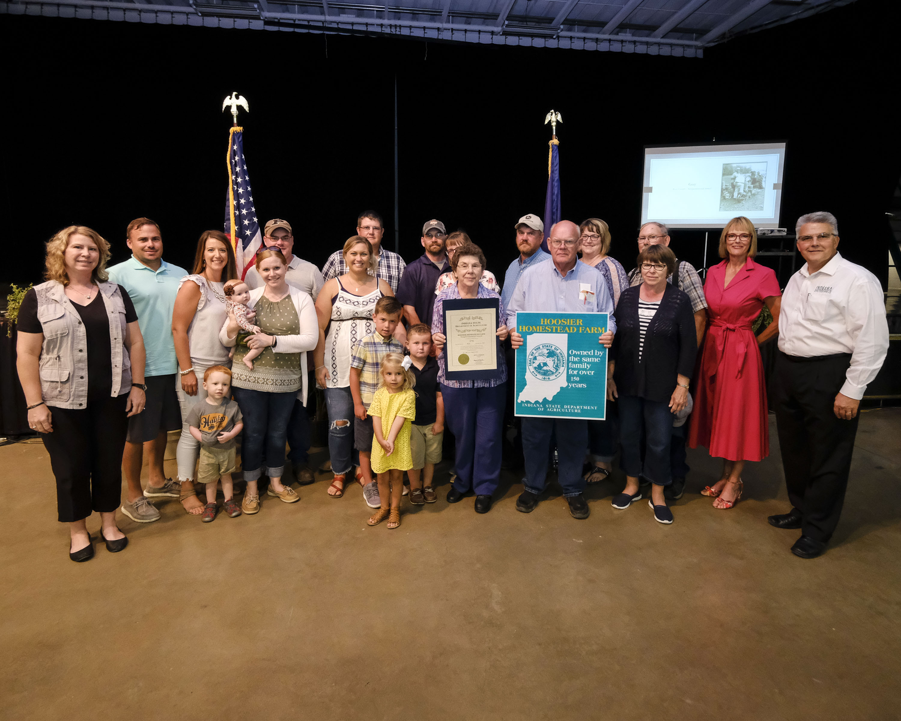 Local farm families receive Hoosier Homestead Awards at the