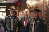 Rep. Bob Cherry meets with Indiana Sheriff's Deputies.