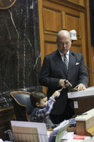 Speaker Bosma teaches a future speaker of the house about his job!