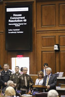 Rep. Karickhoff honors fallen Howard County Deputy Carl Koontz on the first anniversary of his death.