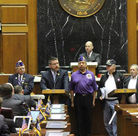 The House of Representatives honor Purple Heart veterans with a resolution