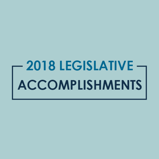 2018 Legislative Goals Met
