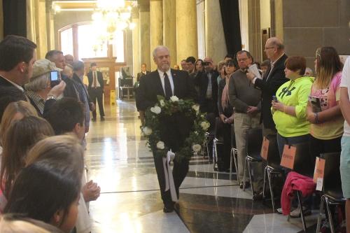 Rep Lehman Represents Legislature At Lincoln Funeral Train